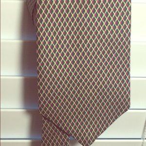 Green gold and purple diamond pin tie